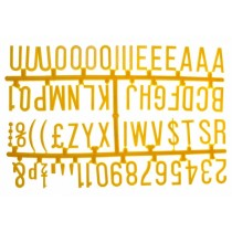 Design-A-Sign Peg Board Letters Yellow 1.25inch