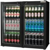 Autonumis Popular Maxi Double Door Hinged Bottle Cooler Black
