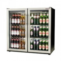 Autonumis Popular Maxi Double Door Hinged Bottle Cooler Brushed Stainless Steel