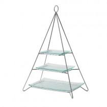Pyramid 3 Tier Cake Stand 33 x 21 x 36cm