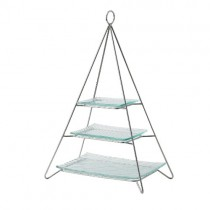 Glass Plate Set for Pyramid 3 Tier Cake Stand