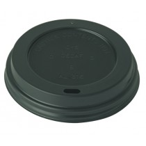 Disposable Black 70mm Domed Sip-thru Lids 7oz Cups