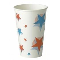 Star Design Paper Cups 12oz / 300ml