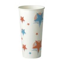 Star Design Paper Cups 22oz / 500ml
