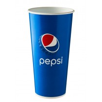 Disposable Pepsi Paper Cold Cup 22oz / 500ml