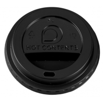 Black Domed Sip Lids To Fit 10-20oz Paper Hot Cups