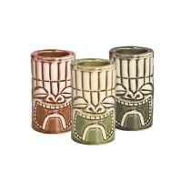 Tiki Shot Sets 1.5oz (Khaki/Green/Brown)