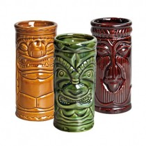 Tiki Shot Sets 8.5oz 25cl (Khaki/Green/Brown) (Set 3)