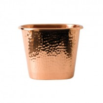 Hammered Effect Copper Bottle Holder