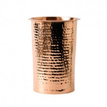 Hammered Effect Copper Bottle Cooler