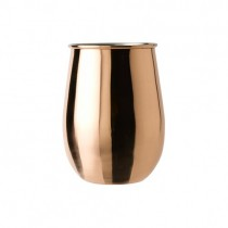 Copper Bulbous Tumbler Nickel Lining 47cl/16.5oz