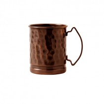 Solid Copper Mug Hammered in Antique Copper 48cl/17oz