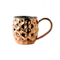 Copper Dented Mug with Nickel Lining 48cl/17oz