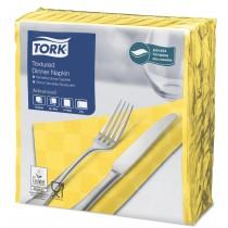 Tork Yellow Textured Dinner Napkin 4 Fold 2ply 39cm