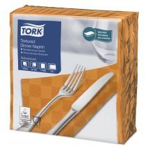 Tork Orange Textured Dinner Napkin 4 Fold 2ply 39cm