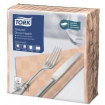 Tork Peach Textured Dinner Napkin 4 Fold 2ply 39cm