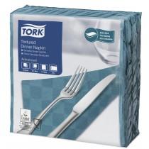 Tork Blue Green Textured Dinner Napkin 4 Fold 2ply 39cm