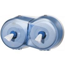 Tork SmartOne® Wave Twin Mini Toilet Roll Dispenser Blue