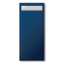 Tork Dark Blue Cutlery Bag With White Napkin 33cm