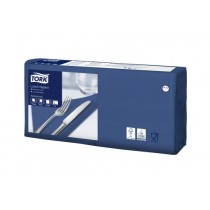 Tork 4 Fold Soft Dark Blue Lunch Napkin 33cm 3ply