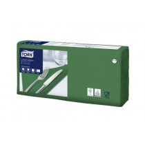 Tork 4 Fold Soft Dark Green Lunch Napkin 33cm 3ply