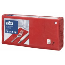 Tork 8 Fold Red Lunch Napkin 32cm 2Ply
