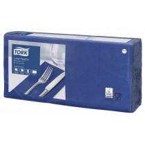 Tork 8 Fold Dark Blue Lunch Napkin 32cm 2Ply