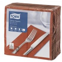Tork Terracotta Dinner Napkins 39cm 2ply 8 Fold