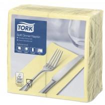 Tork Champagne Dinner Napkins 39cm 3ply 8 Fold