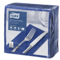 Tork Dark Blue Dinner Napkins 39cm 3ply 8 Fold