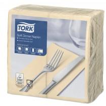 Tork Sand Dinner Napkins 39cm 3ply 8 Fold