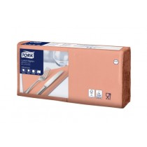 Tork 4 Fold Soft Peach Lunch Napkin 33cm 3ply