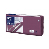 Tork 4 Fold Soft Purple Lunch Napkin 33cm 3ply