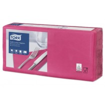 Tork 4 Fold Soft Bright Pink Lunch Napkin 33cm 3ply