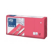 Tork 8 Fold Red Lunch Napkin 33cm 3ply
