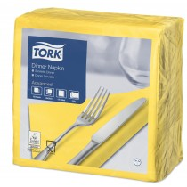 Tork Yellow Dinner Napkins 39cm 2ply