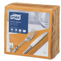 Tork Orange Dinner Napkins 39cm 2ply