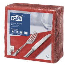 Tork Red Dinner Napkins 39cm 2ply