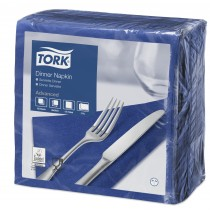 Tork Dark Blue Dinner Napkins 39cm 2ply