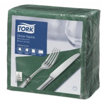 Tork Dark Green Dinner Napkins 39cm 2ply