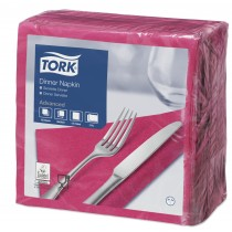 Tork Bright Pink Dinner Napkins 39cm 2ply
