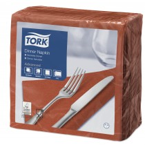 Tork Terracotta Dinner Napkins 39cm 2ply