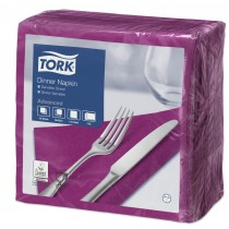 Tork Purple Dinner Napkins 39cm 2ply