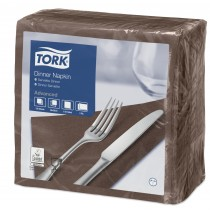 Tork Brown Dinner Napkins 39cm 2ply