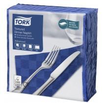 Tork Dark Blue Textured Dinner Napkin 4 Fold 2ply 39cm