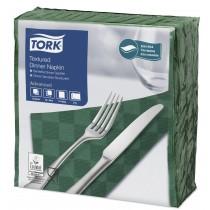 Tork Dark Green Textured Dinner Napkin 4 Fold 2ply 39cm