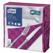 Tork Purple Textured Dinner Napkin 4 Fold 2ply 39cm