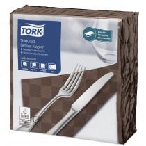 Tork Brown Textured Dinner Napkin 4 Fold 2ply 39cm