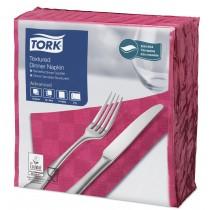 Tork Bright Pink Textured Dinner Napkin 4 Fold 2ply 39cm