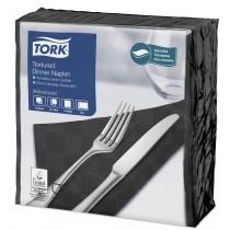 Tork Black Textured Dinner Napkin 4 Fold 2ply 39cm